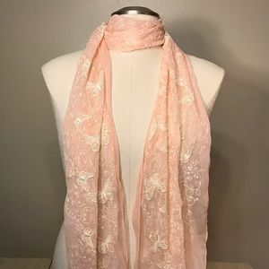 Accessories - Set of 2 peach colored scarves